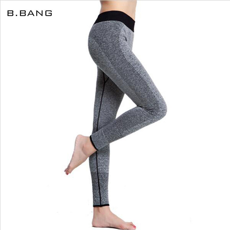 B.BANG Fashion Women Leggings Capris High Elastic Sexy Seamless Long