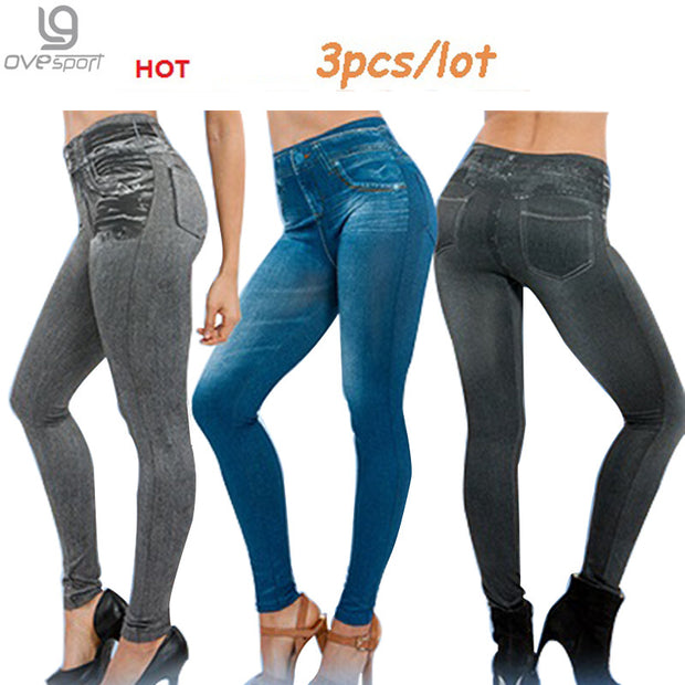 Hot Sale Genie Slim Jeggings 3pcs/lot Women's leggings Jeans Leggins