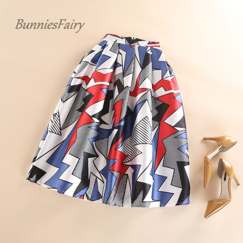 BunniesFairy Brand 2016 Autumn New Fashion Womens Skirts Geometric