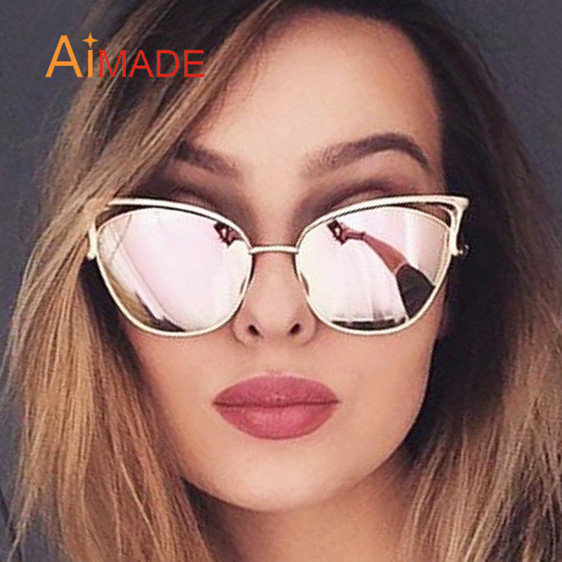 Aimade Vintage Women Cat Eye Sunglasses Fashion Female Hollow Shades