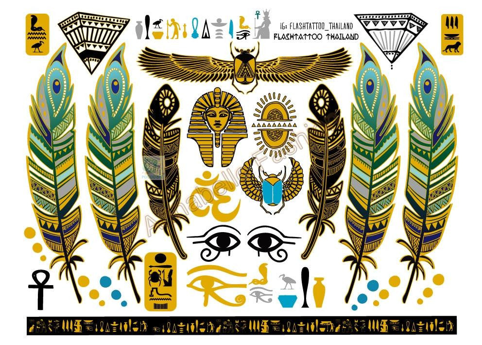 A6080-001 Big Gold Golden tatuagem Taty Body Art Temporary Tattoo