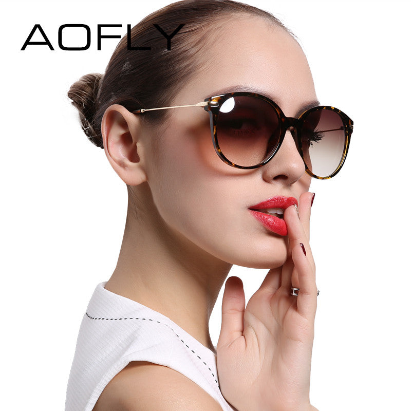 AOFLY With Case Fashion Lady Sun glasses New Polarized Women
