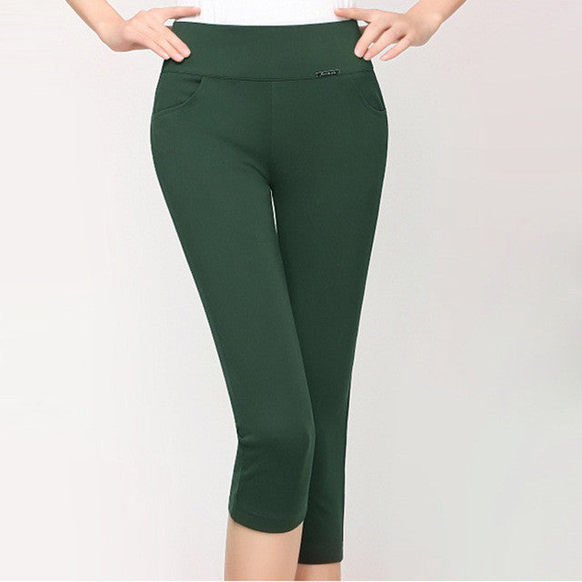 HEE GRAND 2017 New High Stretch Women Pants Cotton Ladies Pencil Pants