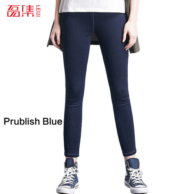 Leiji Fashion Jeans woman 4 color Jeans with high waist  jeans