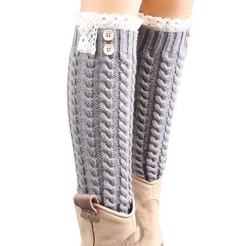 Amazing Big Sale Women's Winter Warm Soft Lace Knitted Leg Warmers