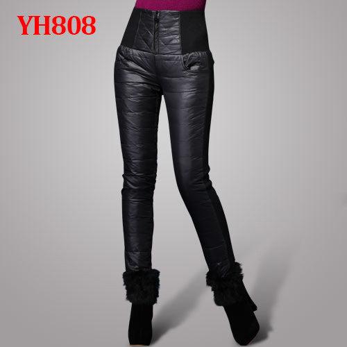 Women Pants Trousers Winter High Waisted Outer Wear Women female