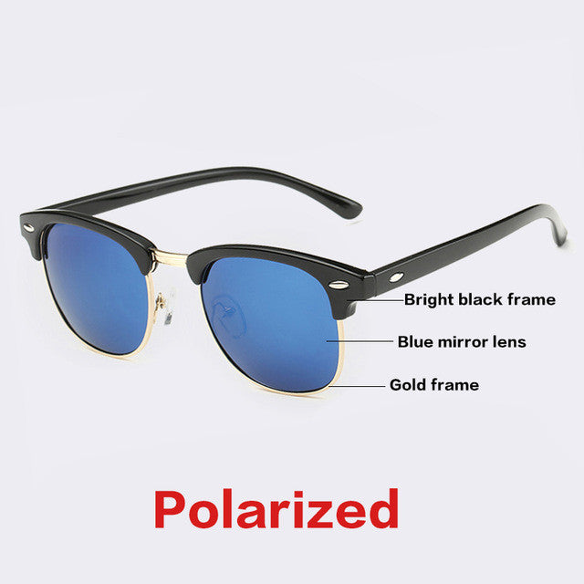 AOFLY CLASSIC Half Metal Sunglasses Men Women Brand Designer Glasses