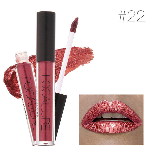 Brand FOCALLURE Lipstick Matte Red Lips Makeup Lip Gloss Tint