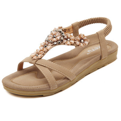 Bohemia Fashion women sandals 2016 New women  Shoes  Skid Flower