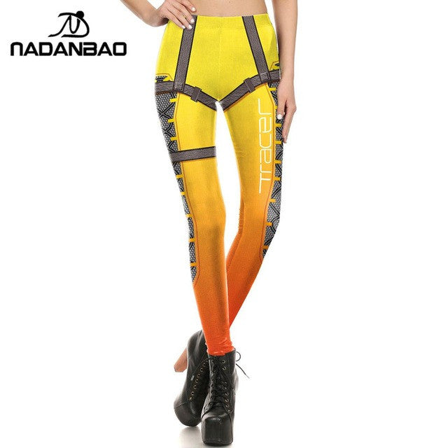NADANBAO Brand New Women leggings Super HERO Widowmaker Leggins