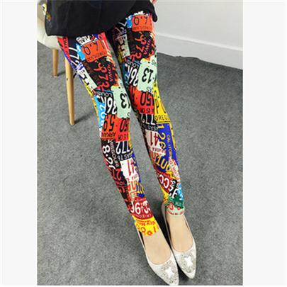 Spring 2017 Fashion Girl Legging Spandex aptitud Print Floral Leggings