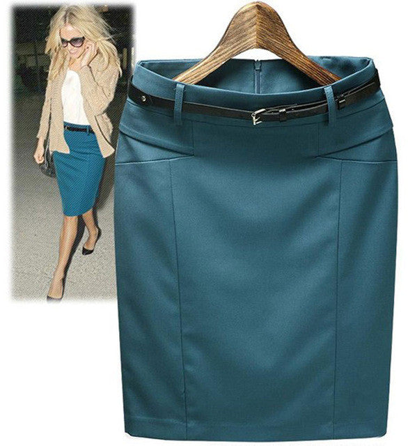 New Style Spring Summer Slim Hip Straight Formal Skirts Fashion