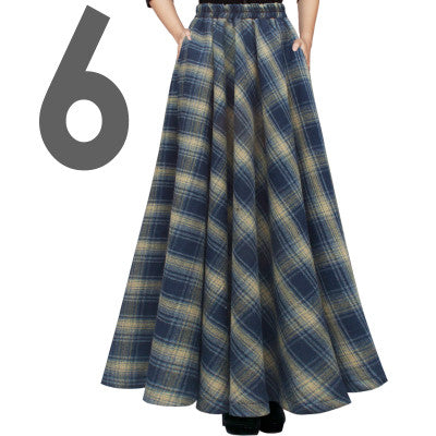 c36a759e5161 Free Shipping 2017 New Fashion Long Maxi Thick A-line Skirts For Women. WKOUD  2017 Winter Skirts For Women Woolen A-Line Skirts High Waist Ankle-Length