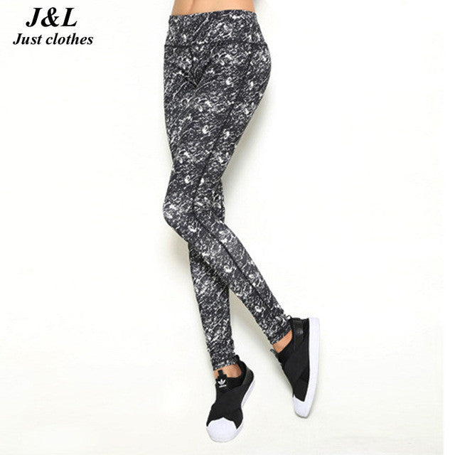 Womens Sporting Leggings Black Print Workout Women Fitness Legging