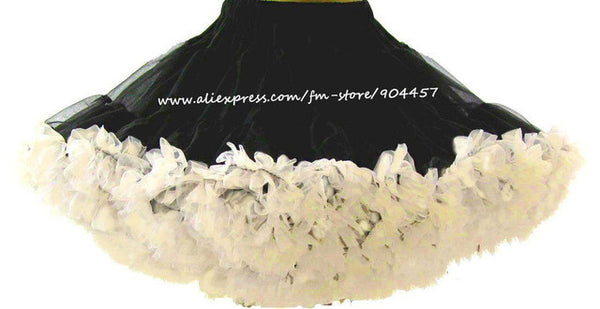 Retail Adult Teen Girls Pettiskirt Womens 2 Color Patchwork Party TuTu