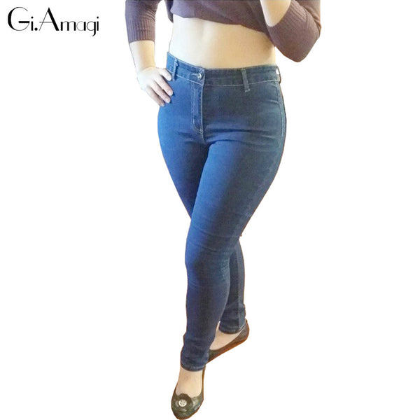 New 2017 Women's jean Pants Female America Famous Desiger Jeans High Quality Skinny Stretch Pencil Denim Ladies' Jeans Plus size