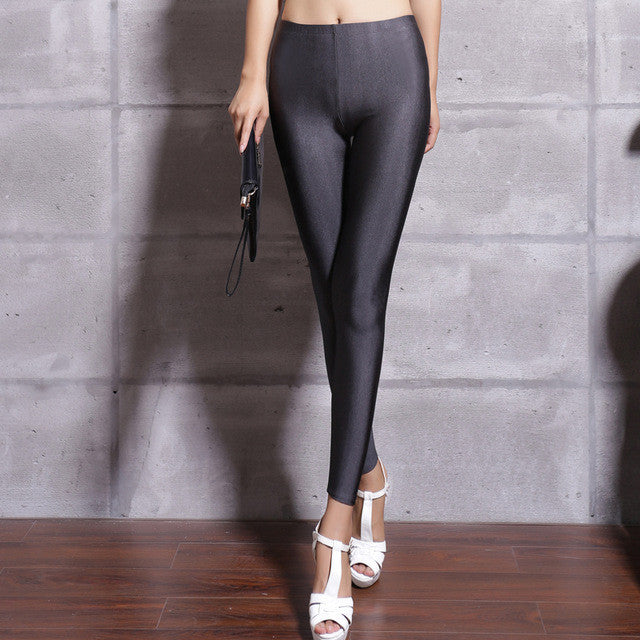 spandex leggings plus size black white women leggings colors shiny