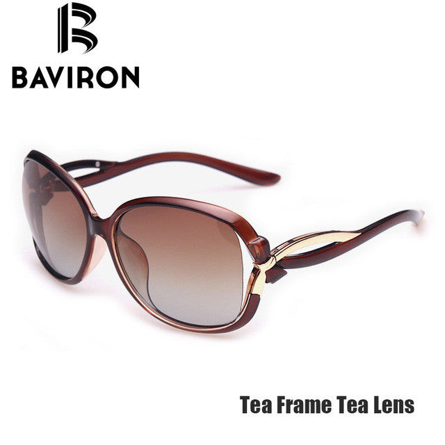 BAVIRON Rosette Design Sunglasses Women Outdoor Polarized Glasses