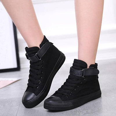 all black canvas shoes women casual shoe zapatos summer spring