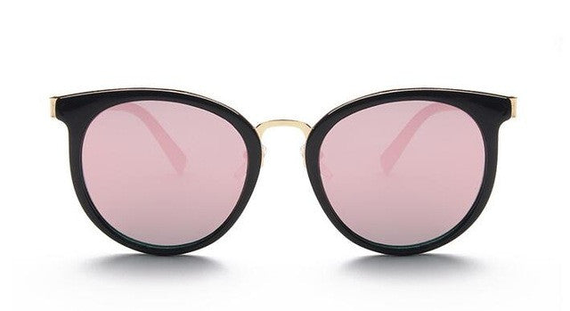 cat eye pink sunglasses woman shades mirror female square sun