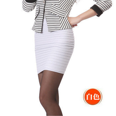 Spring Summer Women High Waist Tight Office Skirt Slim Casual