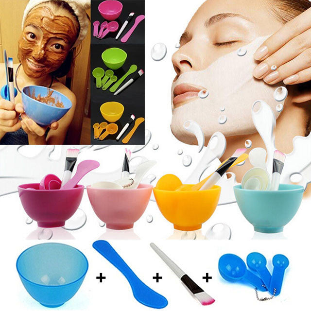 6 in1 New Women Ladies Makeup Beauty DIY Facial Face Mask Bowl Brush