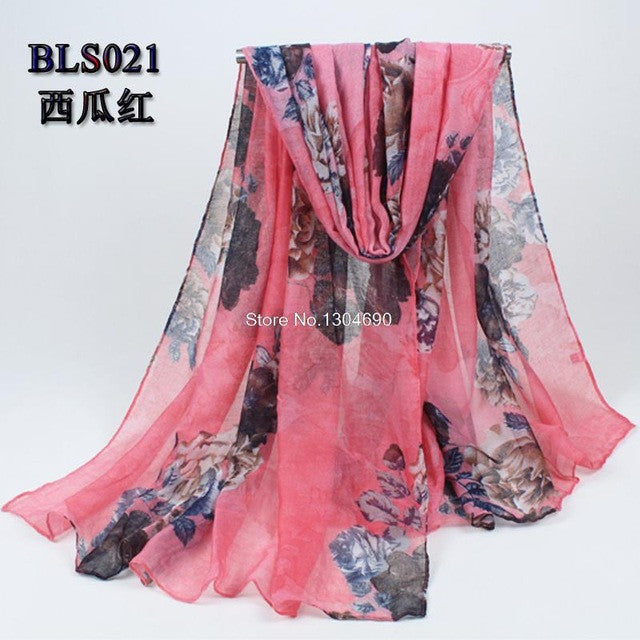 bandanas scarves Ethnic Spanish Scarf with Print180x90cm long autumn