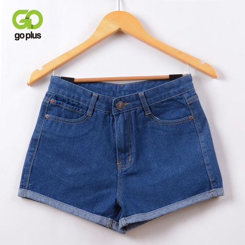 GOPLUS 2017 New Hot Women's Jeans High Waist Stretch Denim Shorts Slim Jeans Feminino Brand Summer Spring Plus Size 26-32 C2296