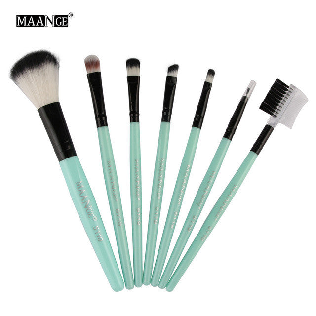 7pcs/kits Professional Nylon Makeup Brushes Set Cosmetics Foundation