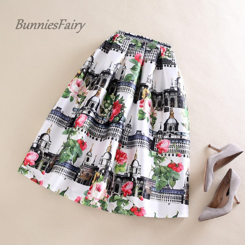 BunniesFairy 2017 Spring New Women Vintage Style Retro Old Church