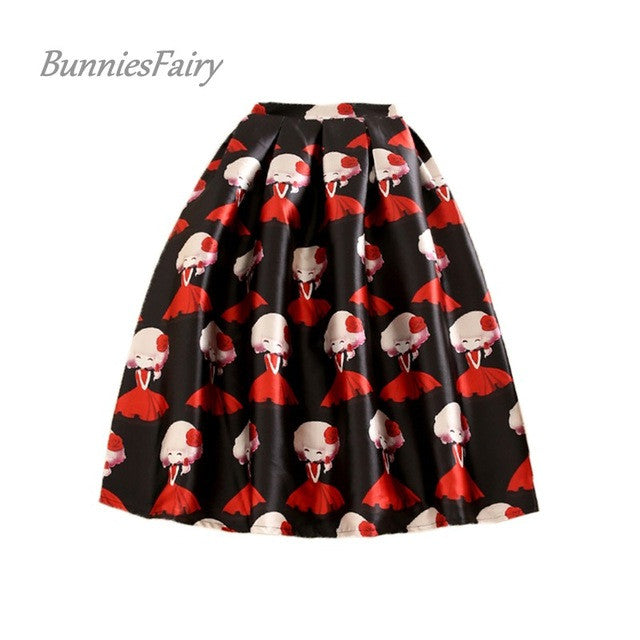 BunniesFairy New Sweet Lolita Style Cute Lady Girl in Red Cartoon