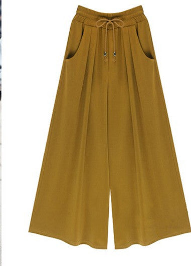 Autumn spring summer fashion women new wide leg pants tenths pants