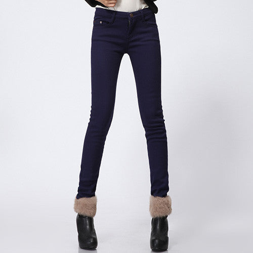 Casual Velvet Pants Black Women Warm Female Formal Trousers Thick