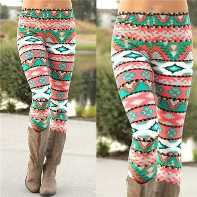 Brand New Women's Nordic Deer Snowflake Knitted Leggings Pants Elastic