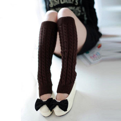 Amazing Fashion Women Winter Warm Leg Warmers Knitted Crochet Long