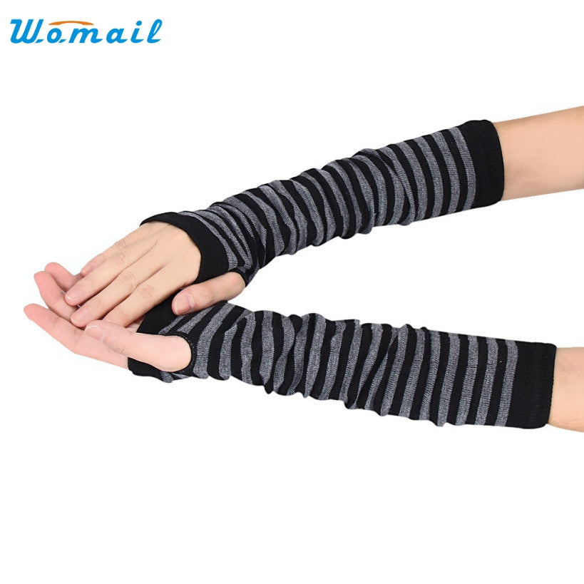 Amazing Women Ladies Knitted Elbow Length Winter Fingerless Gloves