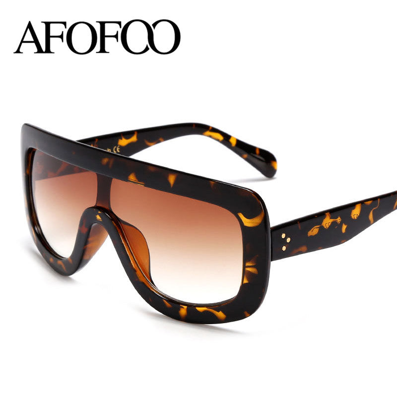 AFOFOO New Fashion Sunglasses Women Vintage Oversize Sunglasses Luxury
