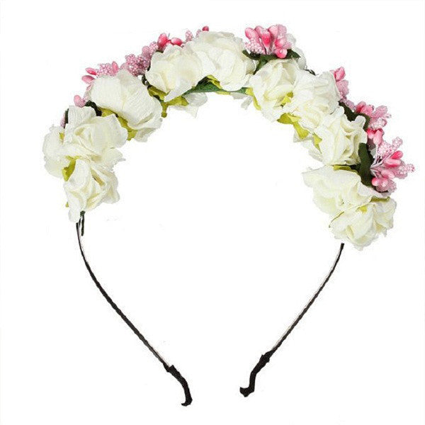 Beautiful Party Prom Flower Garland Women Headband Hairband Hair