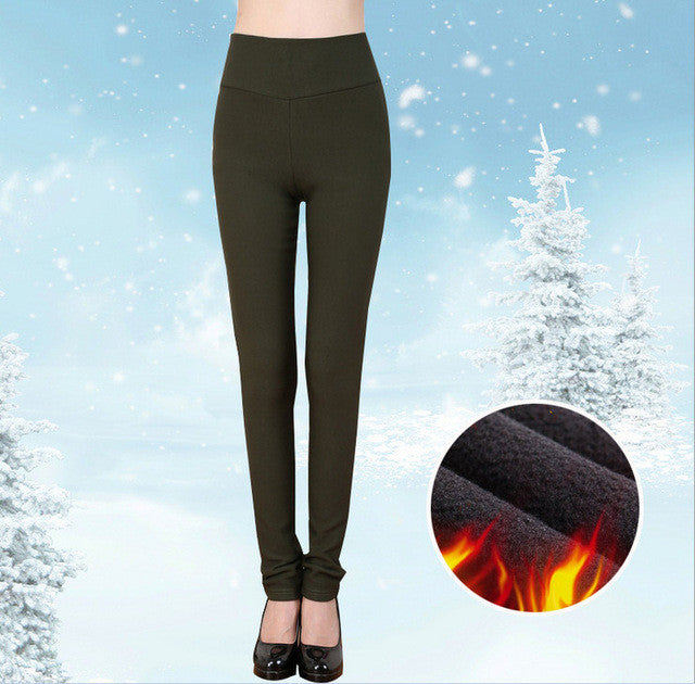 8 color pantalones mujer Winter high waist women  pants