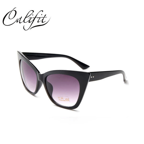 CALIFIT Ladies Vintage Cat Eye Sunglasses Women Luxury Brand Designer Sun Glasses For Women Gradient Shades Oculos Female