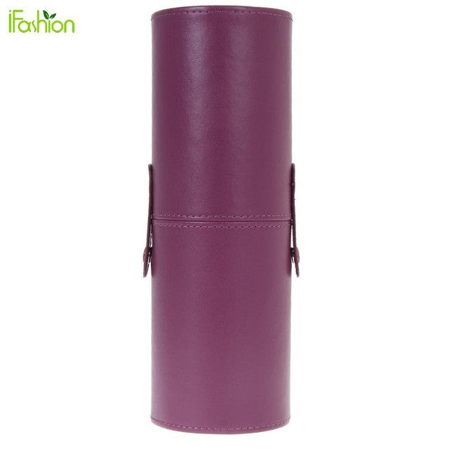 8.9'' Travel PU Leather Travel Cosmetic Brushes Pen Holder Storage