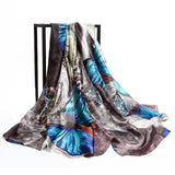 [AETRENDS] 2017 Brand Scarves Colorful Butterfly Print Silk Scarf