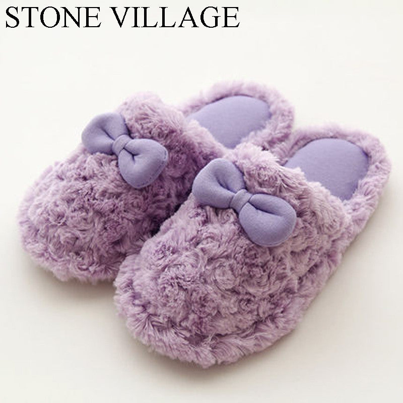 Autumn And Winter Cute Cotton Women Slippers Plus Warm Home Slippers