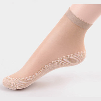 5Pairs Summer Thin Short Socks Women Female Girls Ankle Socks Bottom