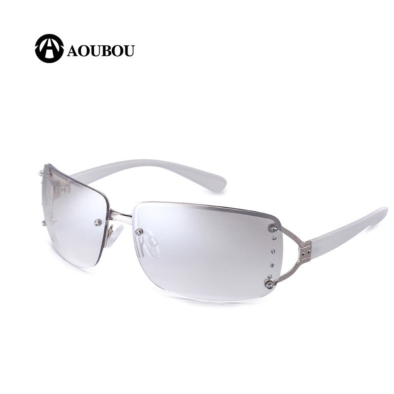 AOUBOU 2017 Vintage Rimless Sunglasses Women Luxury Diamond Design