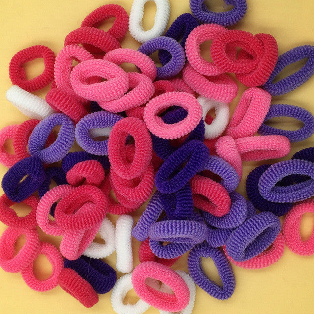 About 80pcs Ponytail Elastic Holders Hair Accessories Nylon Colorful
