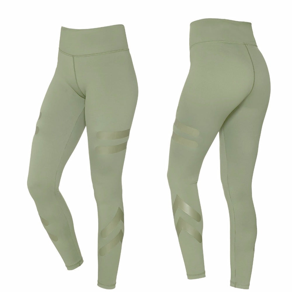 W-Yunna Solid Four-pin Six-wire Crafts Leggings Spandex Polyester ...