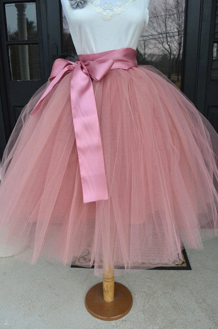 65cm Summer Fashion Women Tulle Skirt Tutu Skirt Wedding Bridesmaid