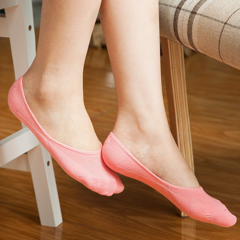 5Pair Non-Slip Invisible Socks For Women No Show Socks Funny