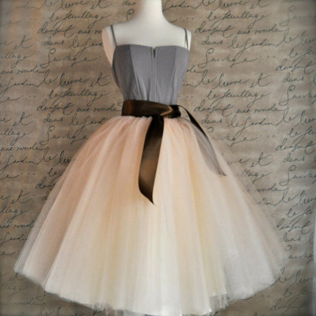 New Arrival Elegant Ladies Elastic Waist Pleated Tutu Tulle Skirt
